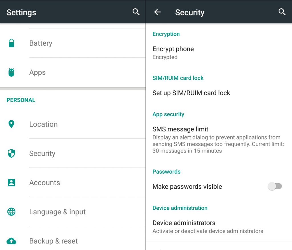 encrypt your android device for superior privacy